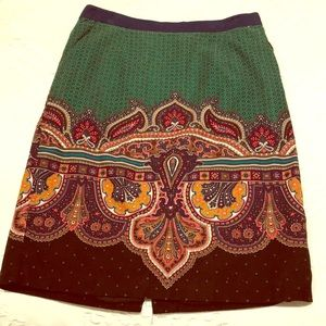 Anthropologie Corduroy Patterned Size 6 skirt